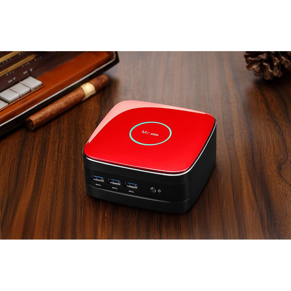 Realan Mr. NUC BT-J1900L Mini PC (Red)