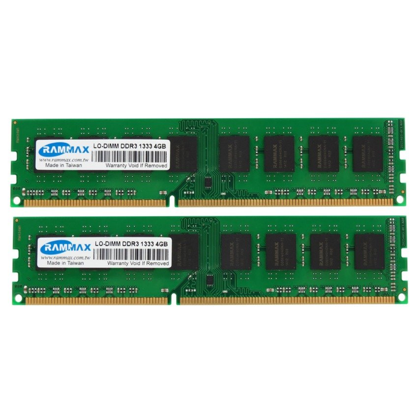 RAMMAX DDR3 1333MHz 4GB LO-DIMM RAM (set of 2)