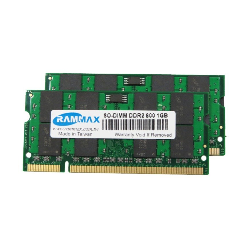 RAMMAX DDR2 800MHz 1GB SO-DIMM RAM (2-in-1)