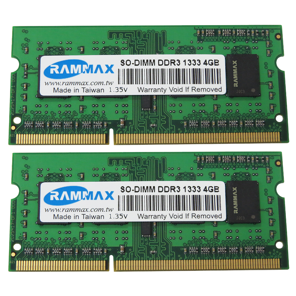 RAMMAX DDR3 1333MHz 4GB SO-DIMM RAM  (Set of 2)