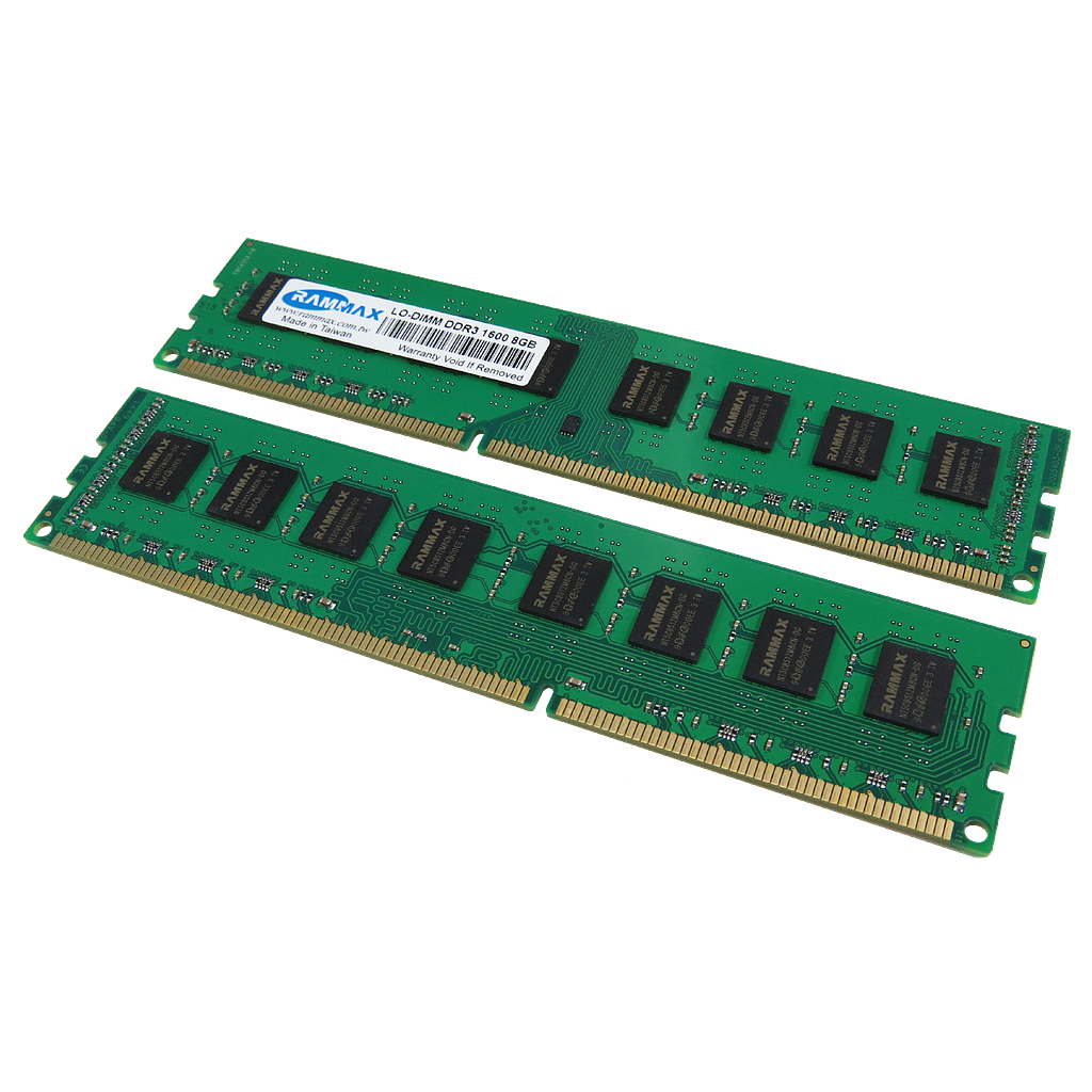 RAMMAX DDR3 1600MHz 8GB LO-DIMM RAM (Set of 2)