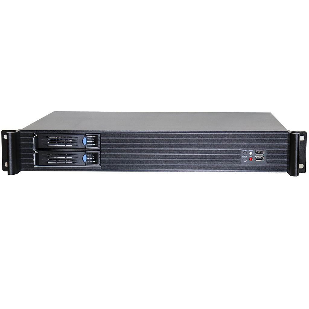 e-Netdata-N1528R 1.5U Ultra Compact Rack mount 280mm with Flex 200W/4 SATA