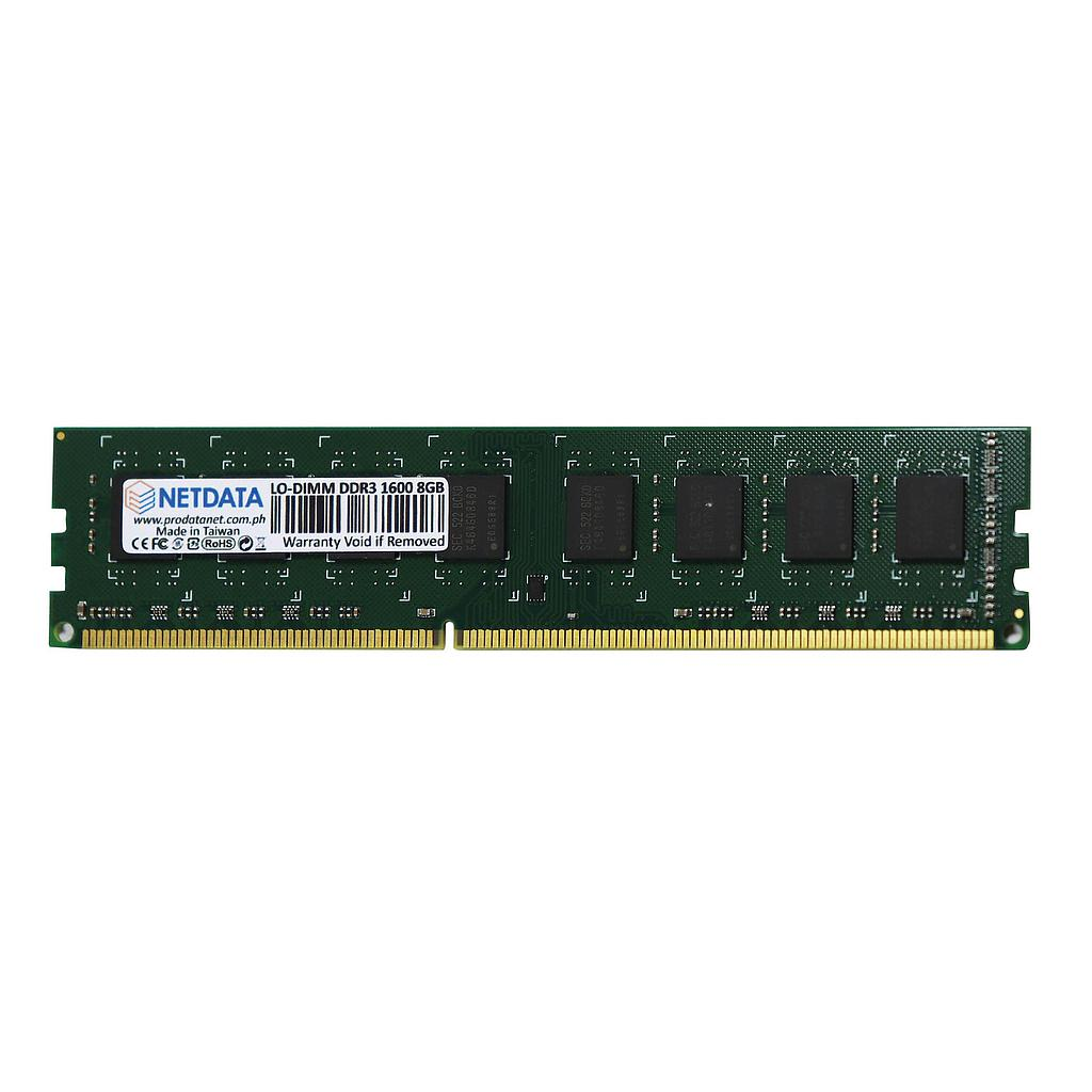 e-Netdata DDR3 1600MHz 8GB LO-DIMM